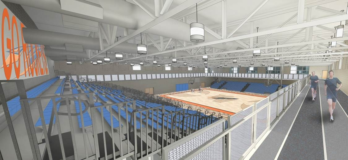Rendering of the High School Gymnasium
