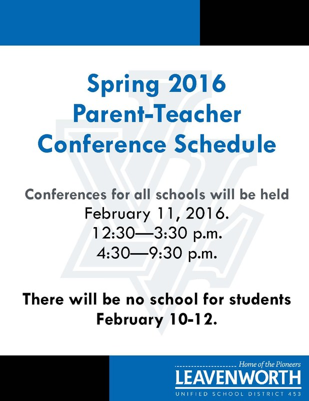 Spring Parent/Teacher Conference Schedule