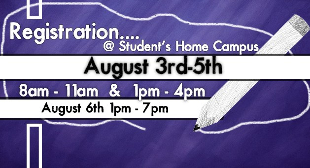 New Student Registration Begins August 3rd