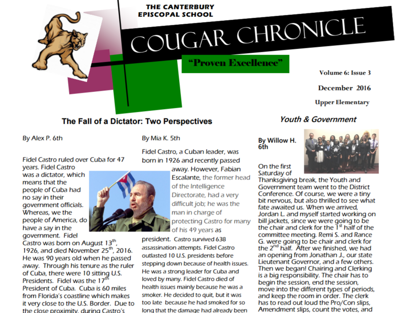 Third Issue of the Cougar Chronicle Thumbnail Image