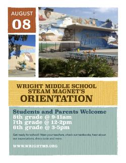 2015-2016 Wright Middle School Orientation