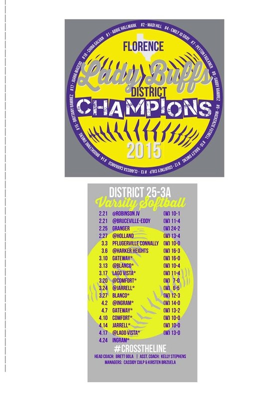 If you want to purchase a District Championship Softball T-Shirt!