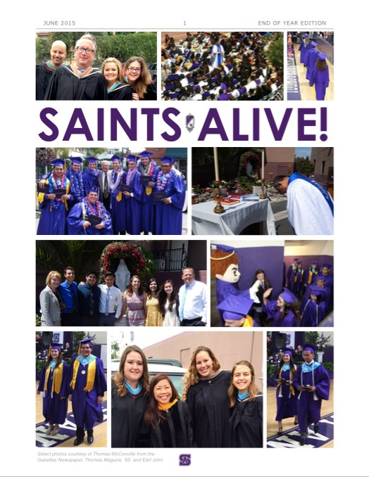 Saints Alive! E-Newsletter End of Year Edition