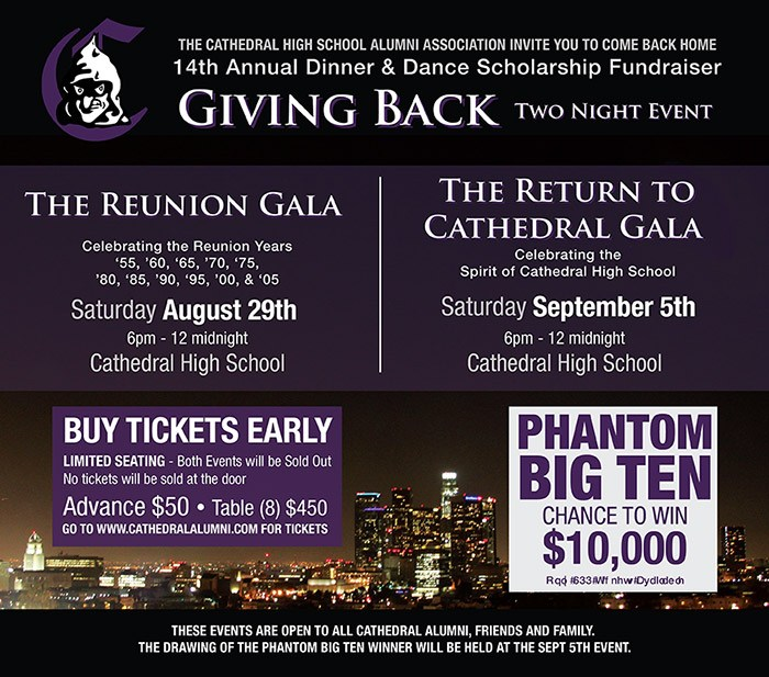 "14th Annual ""Return to Cathedral Gala"" fundraiser comes home to Cathedral after 7 years."