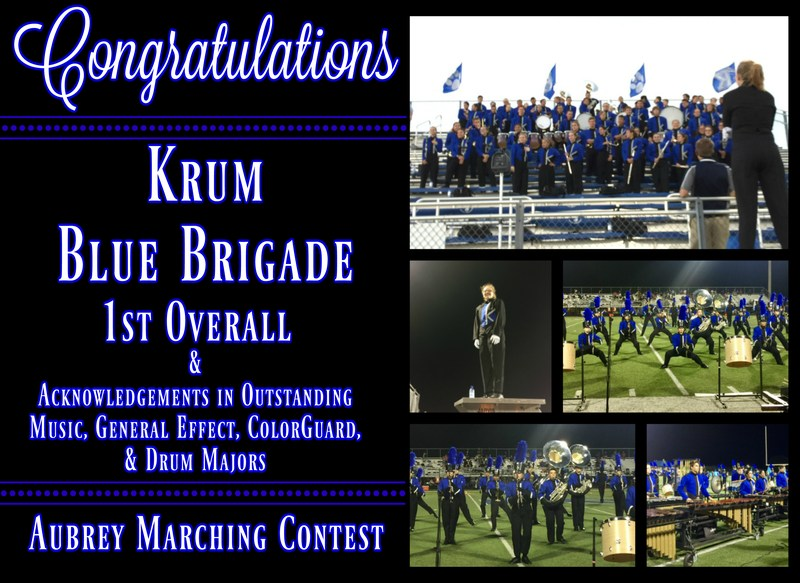 Congratulations to the Krum Blue Brigade on Making History! Thumbnail Image