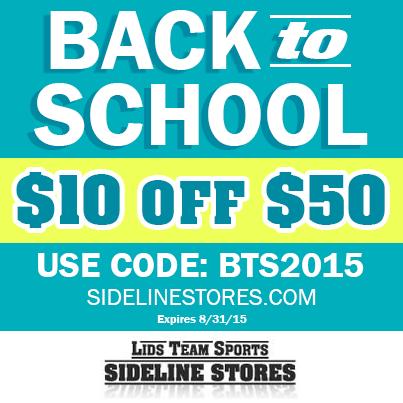 "Sideline Store ""BACK TO SCHOOL"" SALE!"