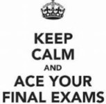 Finals are coming next week!