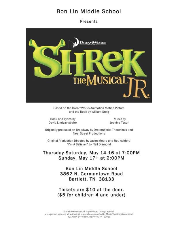 Bon Lin Middle School Presents Shrek the Musical, JR.