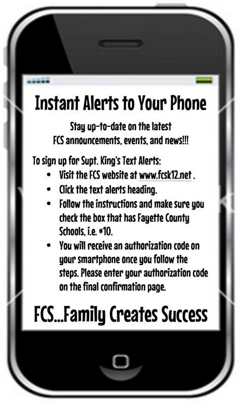 FCS Text Alerts