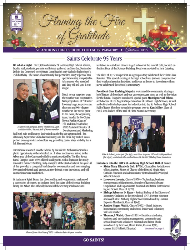 Annual End of Year Newsletter