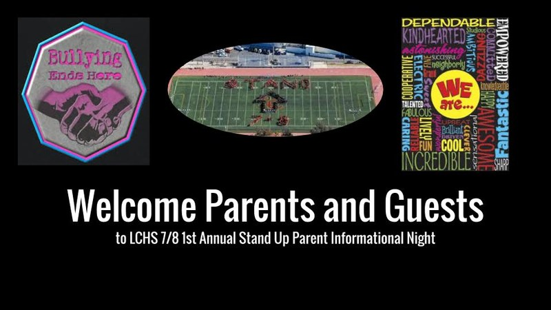 Stand Up 7/8 Parent Night Presentation