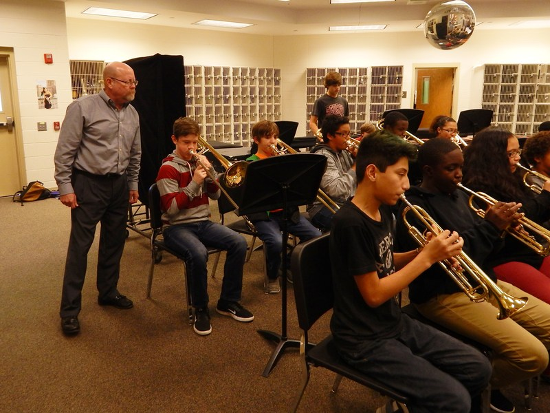 VMS Band Clinic led by Dr. Marc Dickman