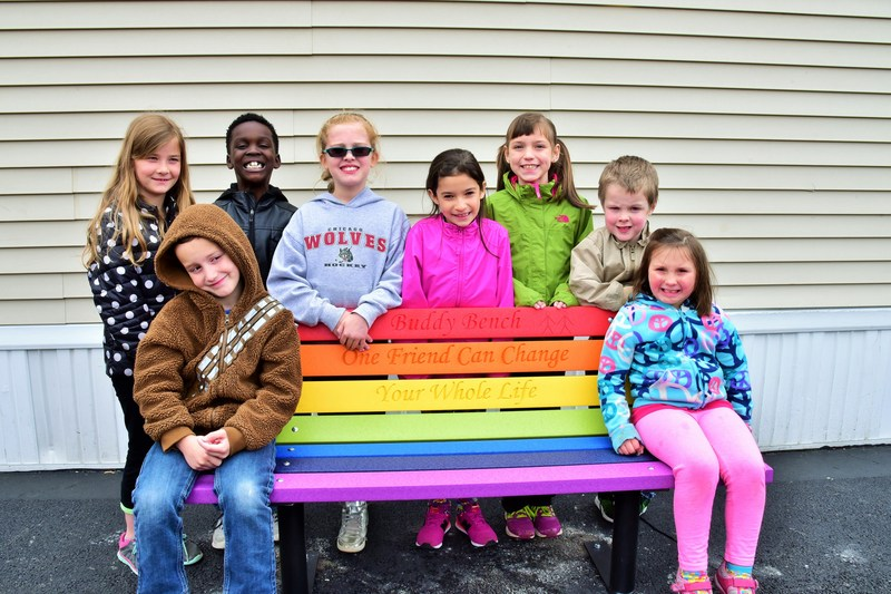 Buddy Bench at Southeast School is Helping Students Find Friends. Thumbnail Image