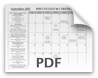 BHS College & Career Center Announcements!