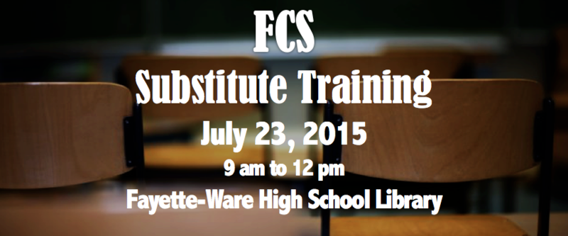 Substitute Training Information