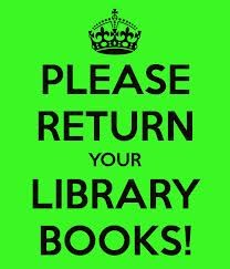 Library Books Due Wednesday, May 20th.