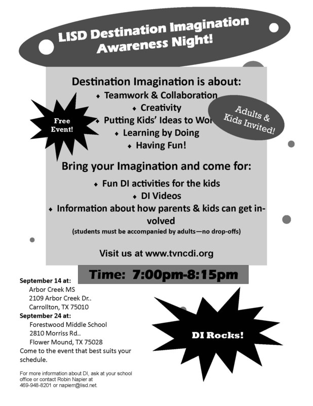 Destination Imagination Info Nights are coming!