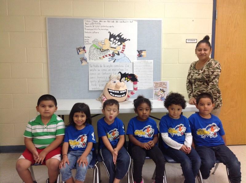 Mrs. Casillas PK group won Pumpkin Literacy Contest