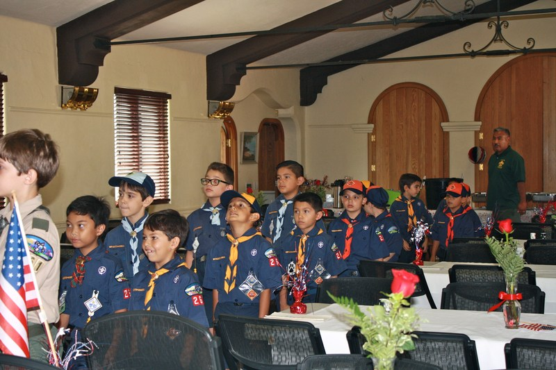 Mission Troop 261 Scouts Honor San Gabriel Veterans at Rotary Luncheon