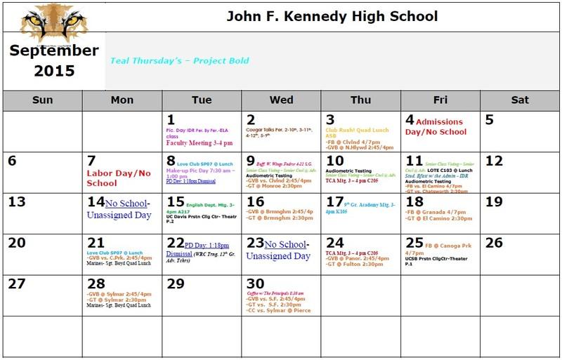 Kennedy Calendar 2015-2016 (Updated 10/2)