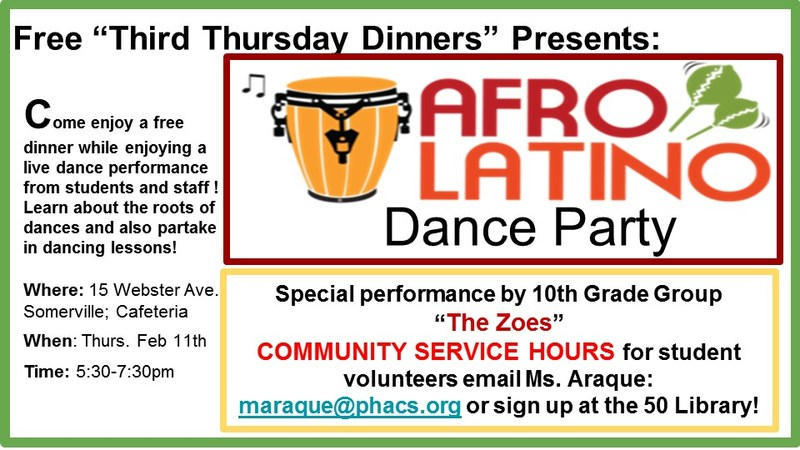 Join us for Third Thursday Dinner/Afro Latino Dance Party