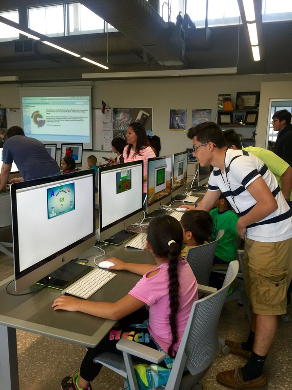 Video Game Design Students and Kindergarten Students Collaborate at CCE