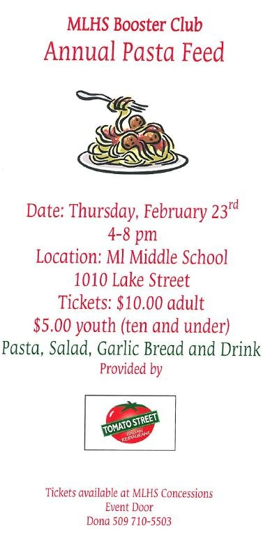 MLHS Booster Club Annual Pasta Feed Thumbnail Image