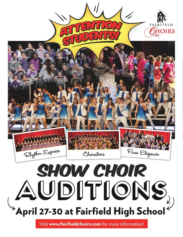 Show Choir Auditions April 27-30