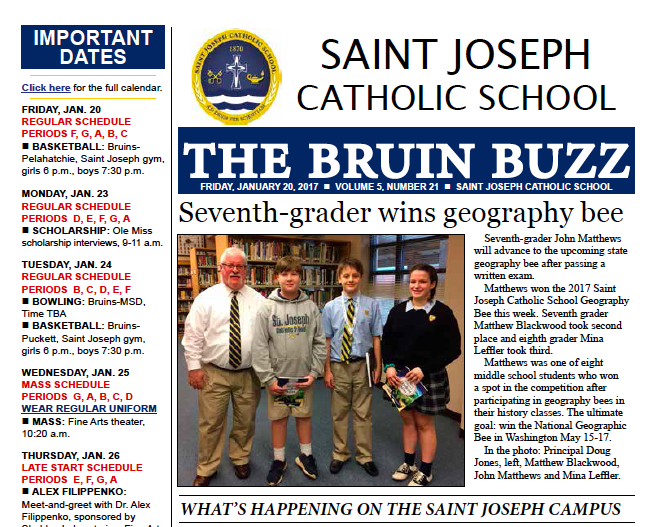 The Bruin Buzz, Jan. 20 Thumbnail Image