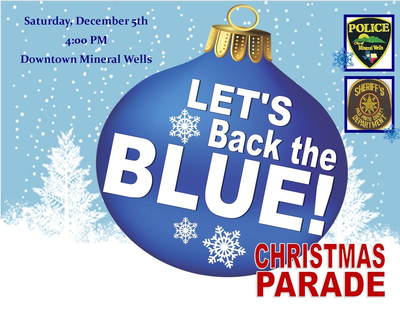 """Let's Back the Blue"" Christmas Parade on December 5th at 4 PM"