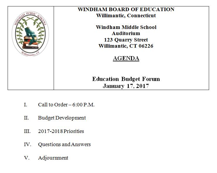 Education Budget Forum Thumbnail Image