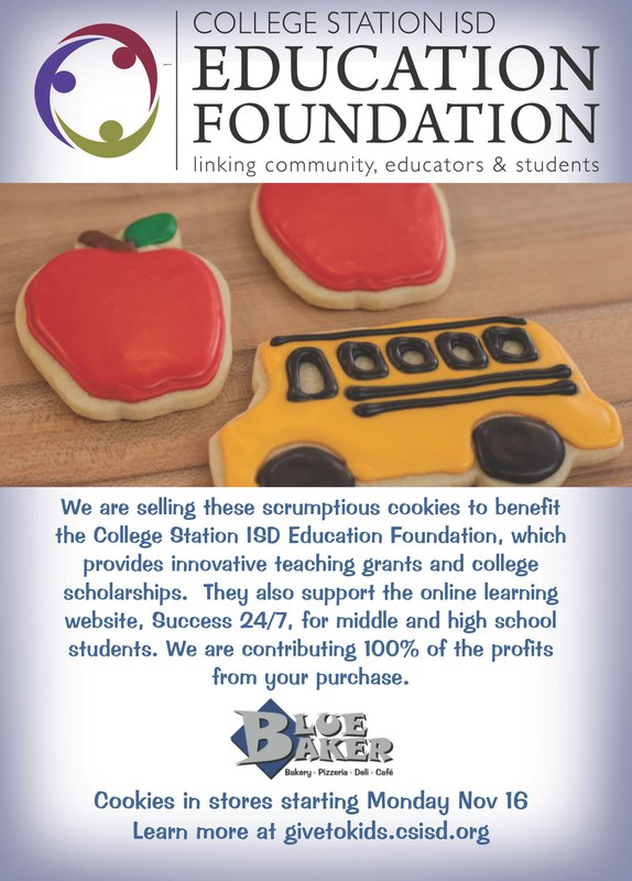 Blue Baker is Teaming Up with the CSISD Education Foundation to Support Students