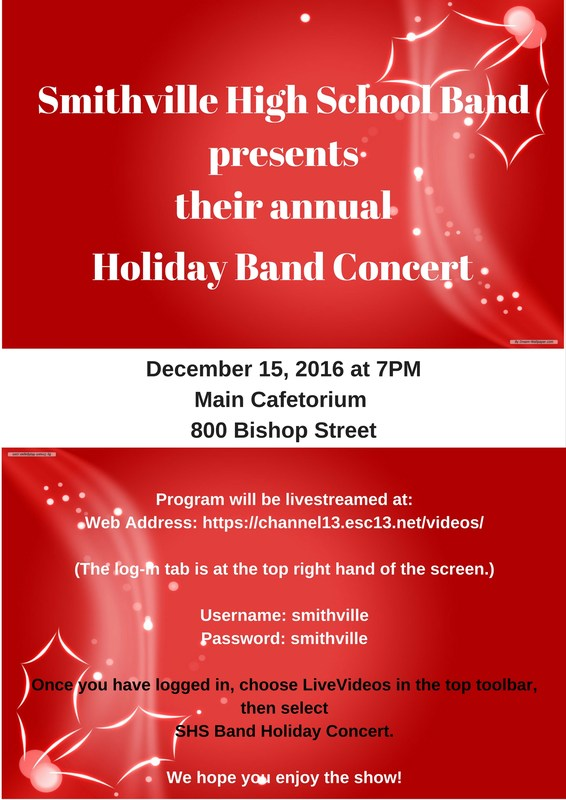 SHS Holiday Band Concert Thumbnail Image