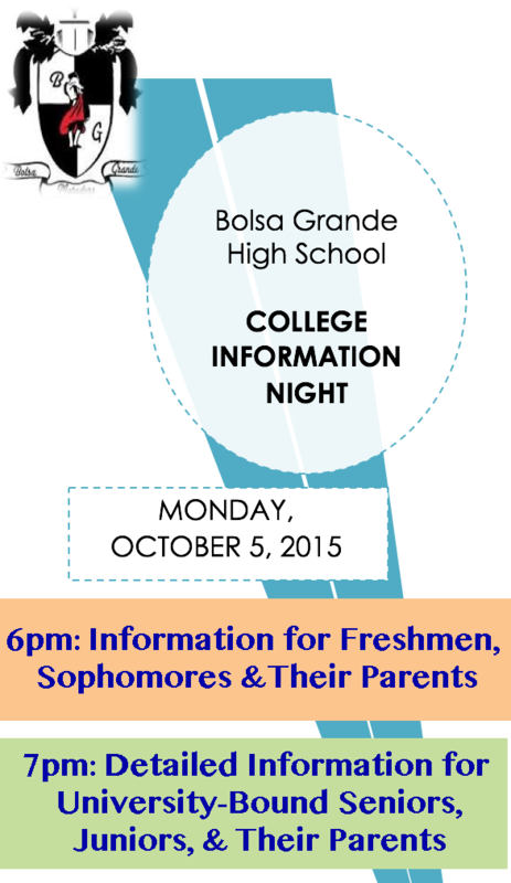 Bolsa College Information Night - A BIG SUCCESS