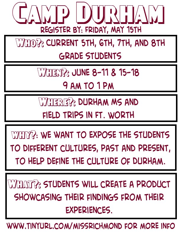 Camp Durham-Summertime Fun!