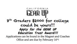 GEAR UP Education Trust Awards for 8th Graders!