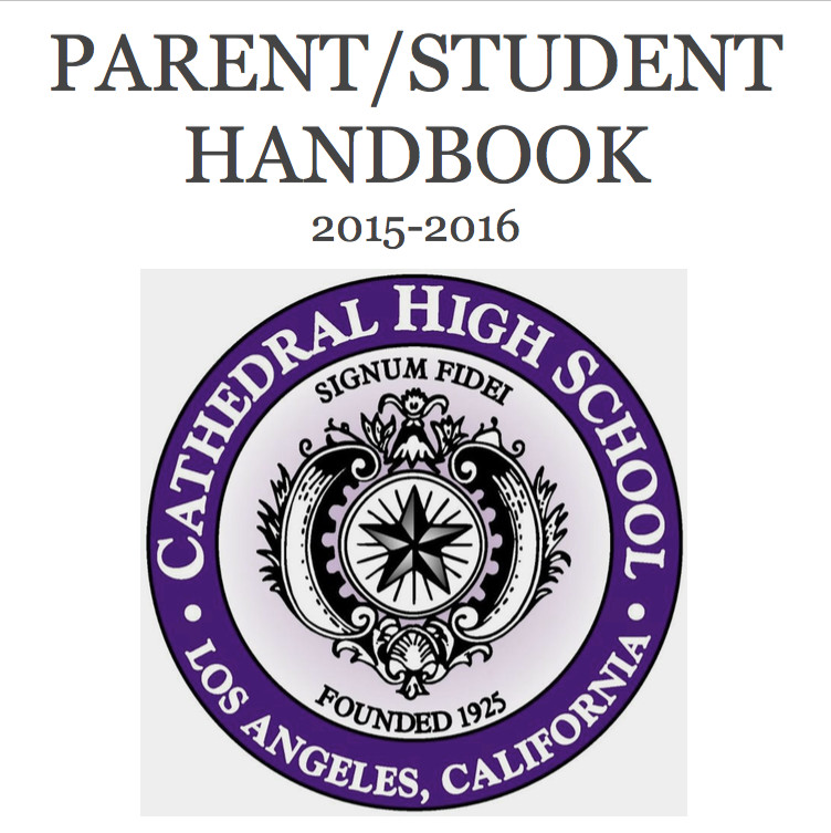 PARENT/STUDENT HANDBOOK NOW AVAILABLE