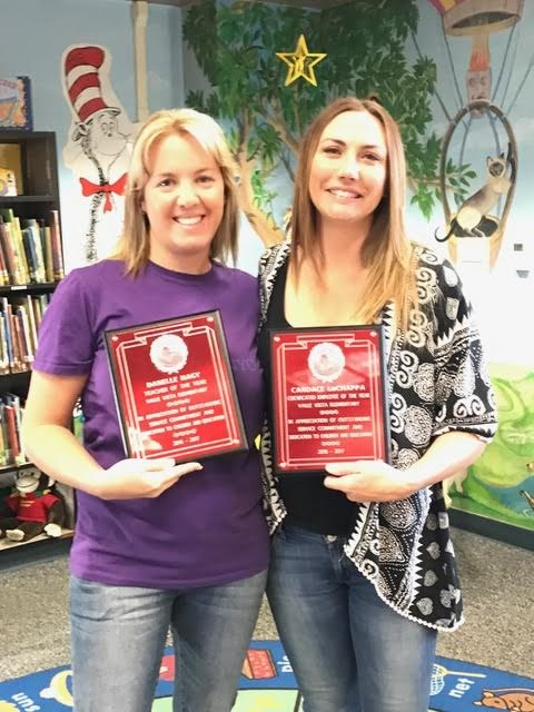 Mrs. Nagy (left) is our Certificated Employee of the Year and Mrs. LaChappa (right) is our Classified Employee of the year