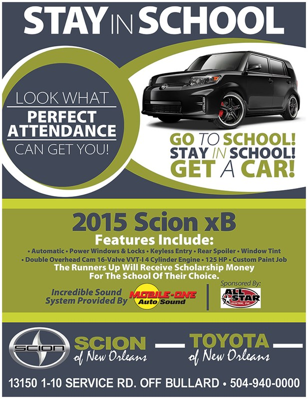 Win a Car for Perfect Attendance! Thumbnail Image