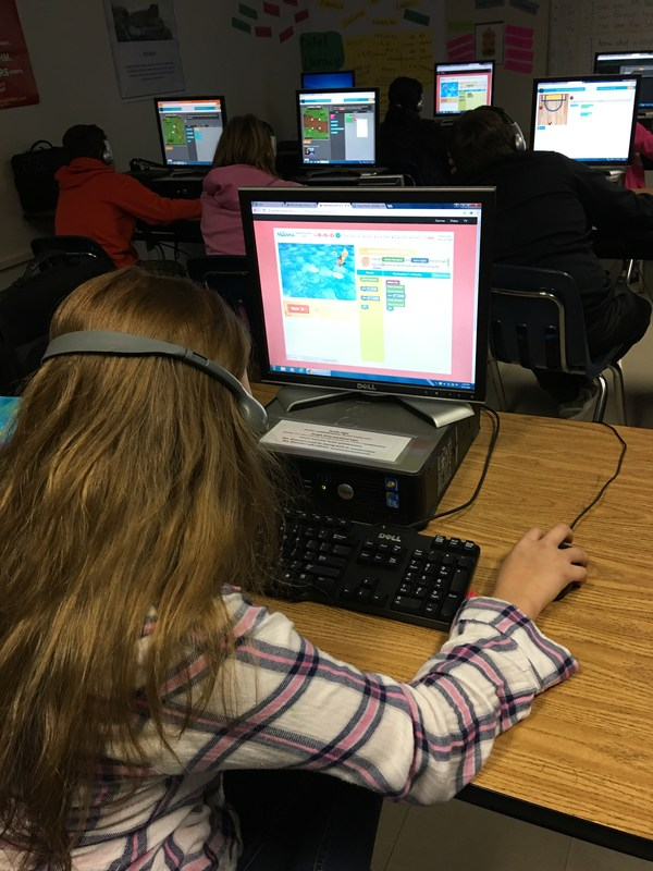 Students Participate in Hour of Code Thumbnail Image