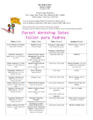Parent Center February Calendar & Workshops