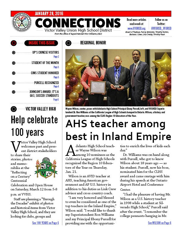 Check out the latest edition of VVUHSD's e-newsletter!