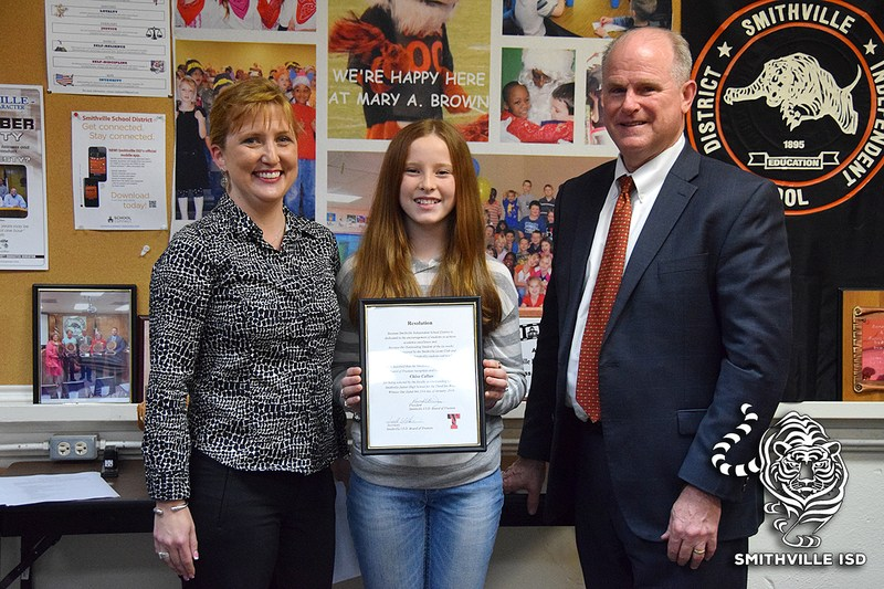 SJHS Students Recognized at School Board Meeting