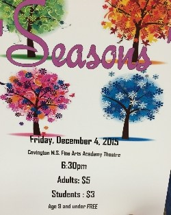 Join Us for SEASONS Dance Performance! - December 4th, 6:30 PM