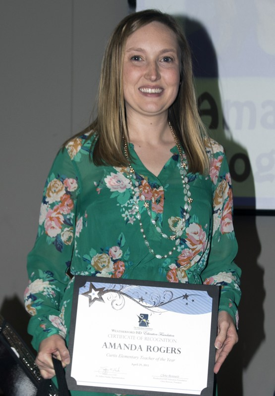 Curtis Elementary Teacher of the Year and WISD Elementary Teacher of the Year - Amanda Rogers