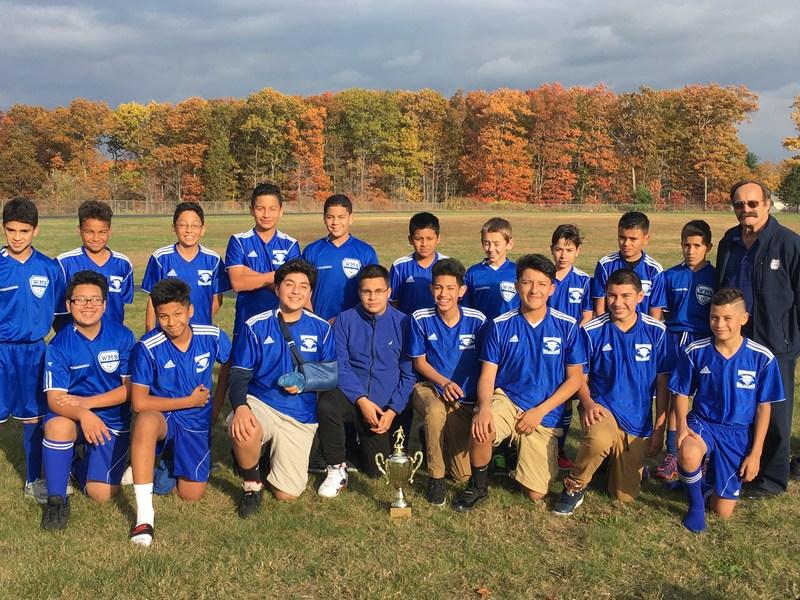 Boys Soccers Wins 4th Consecutive NEMSAC Soccer Title Thumbnail Image