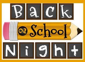Back to School Night ~ Sept 1st ! Thumbnail Image