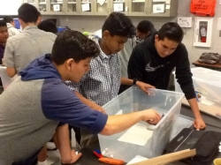 SCIENCE ACADEMY:  RUBE GOLDBERG MACHINES UNDER CONSTRUCTION (5/5/15)