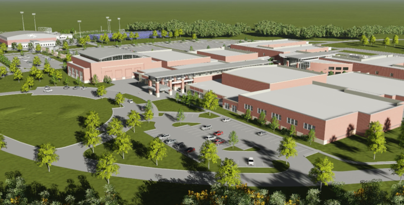 NEW! Collierville High School 3D Flythru Exterior View