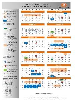 2015-16 District calendar released